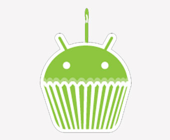 Android warms up cupcake