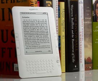 The Amazon Kindle e-reader