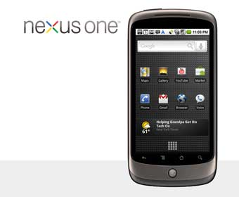 The Google branded Nexus One