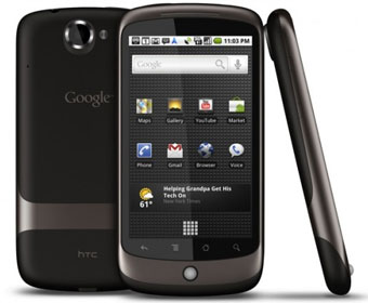 The Google Nexus One features Android 2
