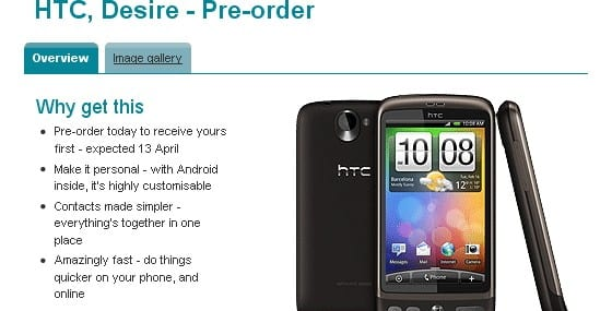HTC Desire owners were angered by Vodafone's branded updates