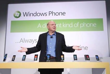 Microsoft CEO Steve Ballmer, unveiled Windows Mobile 7