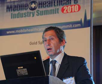 Thierry Zylberberg, executive vice president of the Health Line of Business at Orange, speaking at the summit