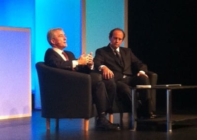 Deutsche Telekom CTO Olivier Baujard and BT's Sean Williams share a panel at the Broadband World Forum