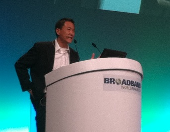 Kevin Lo, head of access, Google, speaking at the Broadband World Forum in Paris