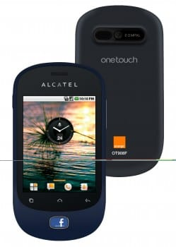 The Alcatel One Touch 908F, developed in collaboration with Orange and Facebook