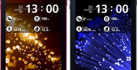 Fujitsu's Arrow smartphone, launched in Japan earlier this year