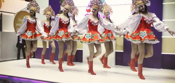 CBOSS stand has featured dancing girls for several years.