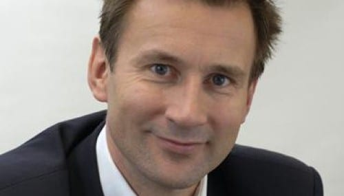 Jeremy Hunt, culture secretary for the UK