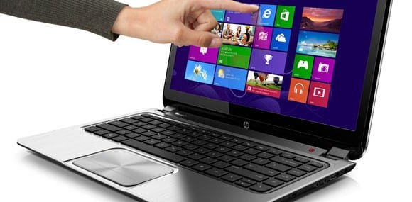 Windows 8 supports touchscreen, as well as keyboard and mouse input methods