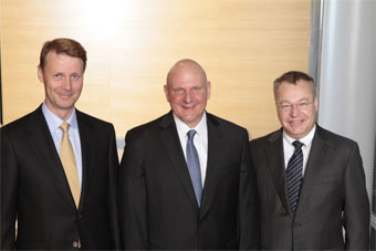 Ballmer, Elop and Risto Siilasmaa - interim CEO