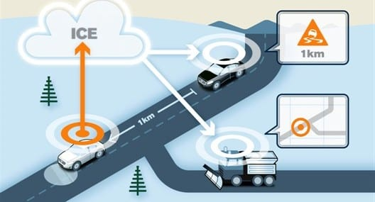 Volvo Cars is joining forces with road administrators in a pilot project in which road friction information from individual cars is shared within a cloud-based system