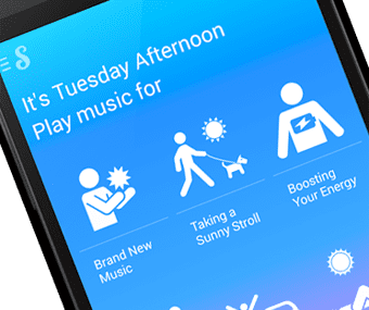 Songza curates music playlists