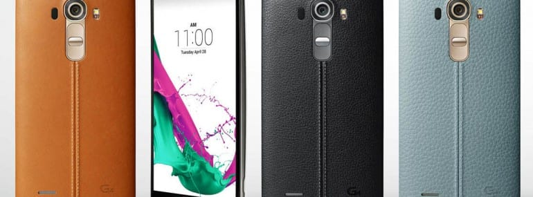 New LG G4 flagship smartphone has a leather or ceramic case