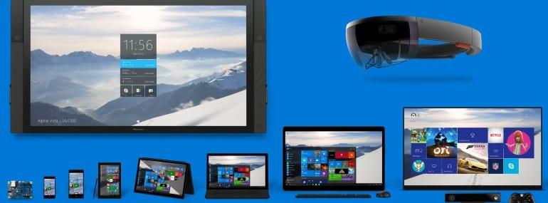 Microsoft Windows 10 montage