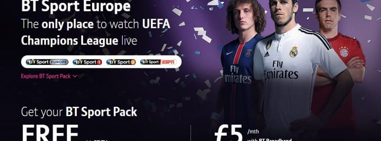BT TV Sport multiplay convergence
