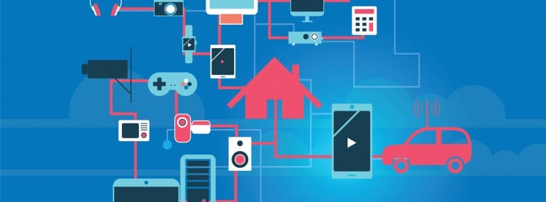 The Internet of Things vector illustration.