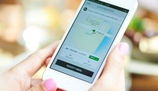 Uber smartphone