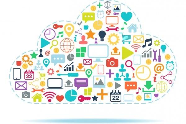Cloud Computing color vector illustration.