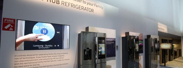 Samsung family hub IoT fridge