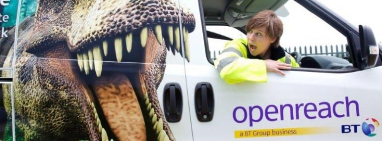 New design on openreach vans