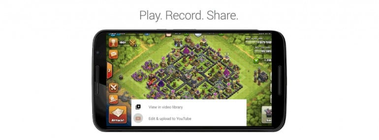 Google play video recording