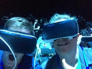 The Telecoms.com team got its hands on some VR gear at Samsung's launch event at MWC.