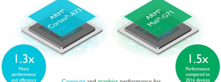 ARM cortex a73 and mali g71