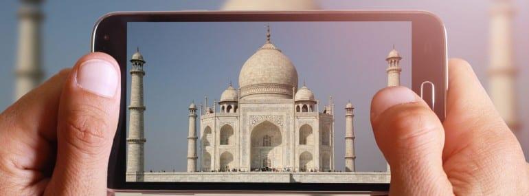 India smartphone taj mahal