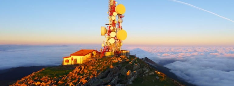 telecommunications tower on Oiz mountain top