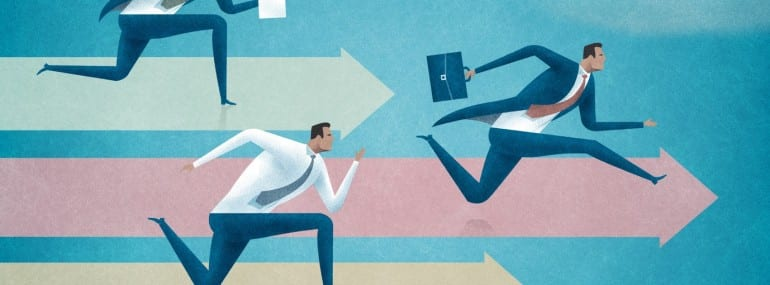 Competition. Business concept illustration