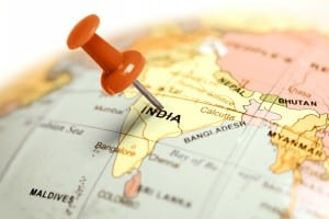 Location India. Red pin on the map.