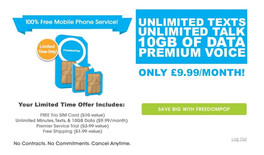 FreedomPop 10gb