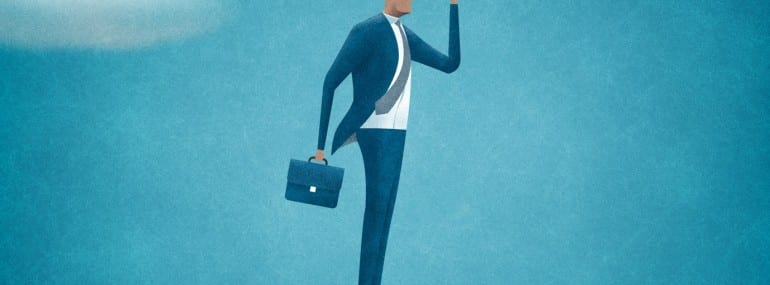 Searching. Search for opportunities. Business illustration