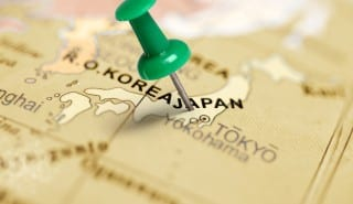 Location Japan. Green pin on the map.