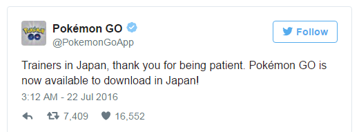 Pokemon Go Japan Launch