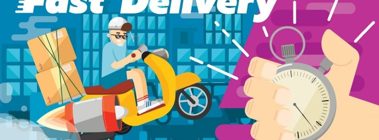 Fast delivery design, vector illustration