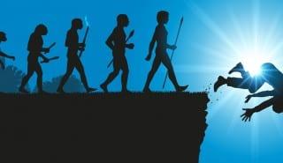 Hommes Evolution Chute