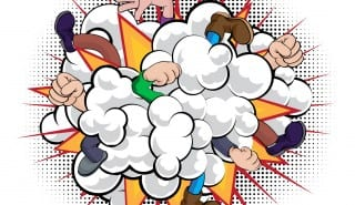 Cartoon Comic Book Fight Dust Cloud