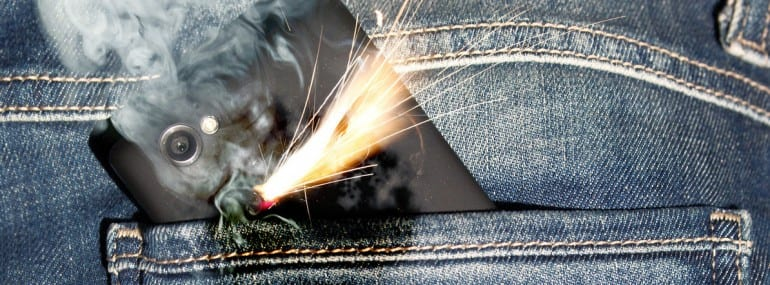 exploding phone pocket