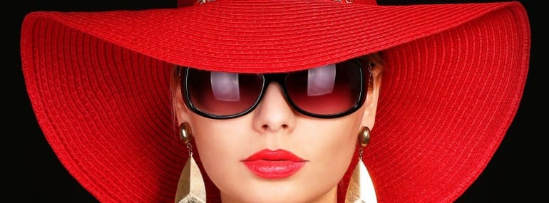 red hat woman