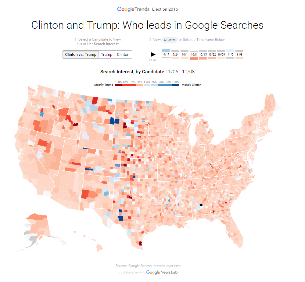 Google stats US election