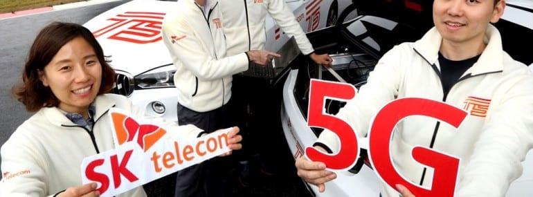 SK Telecom 5G car