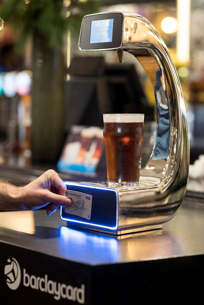 Barclaycard contactless beer