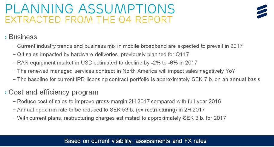 Ericsson Q4 2016 earnings slide 4