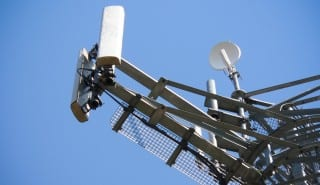 Antennas on mobile network tower.