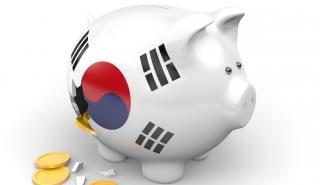 South Korea piggy bank broken money