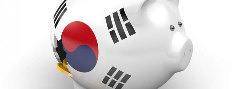 South Korea piggy bank broken money