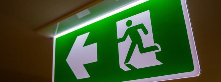 Fire exit light sign (fire)