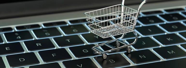 3d Tastatur mit Einkaufswagen